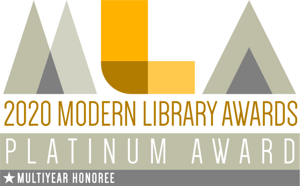 2020 Modern Library Awards - Platinum Award - Multiyear Honoree